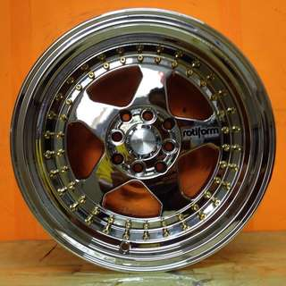 15 inch SPORT RIM ROTIFORM SUPER CHROME 9JJ WHEELS