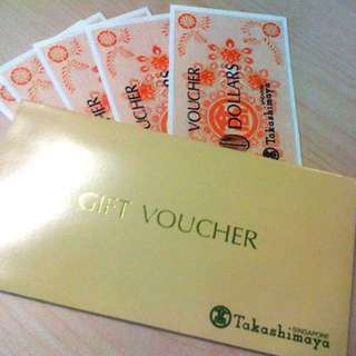 Takeshimaya dept store voucher (210sgd worth)
