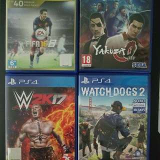 PS4 Games (Fifa 16 & Watchdogs 2)