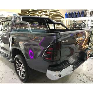 Toyota Hilux Revo Sporty Black Metal Roll Bar