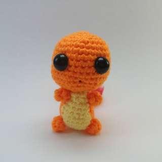 PLUSHIE: Mini Charmander Pokemon (Crochet Amigurumi)