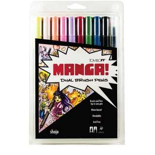 Tombow Dual Brush Pen Manga 10 Pack