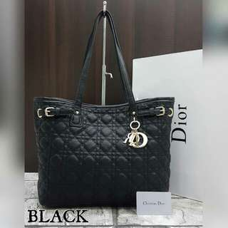 Lady Dior Panarea Tote Bag Black Color