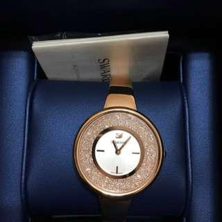 Swarovski 玫瑰金手錶