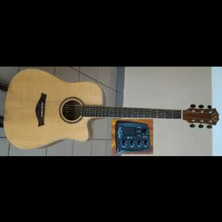 A&K Acoustic Electric Guitar 41Inch #530CE SOLID Top