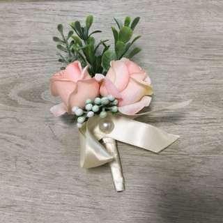 新郎 新娘 家襟花