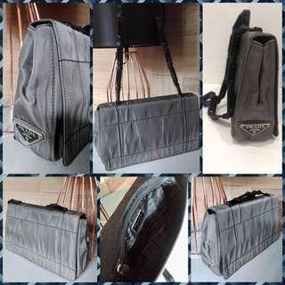 Prada Party Bag with Plastic Strap Gray