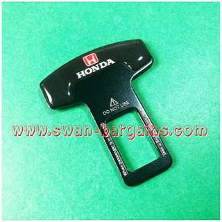 Universal Car Safety Belt Buckle Key Clasp Clip Alarm Beeper Silencer With Red Honda Logo