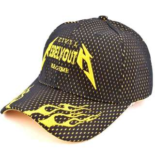 Rebel Youth Snapback Cap Visor for Men (black/yellow)