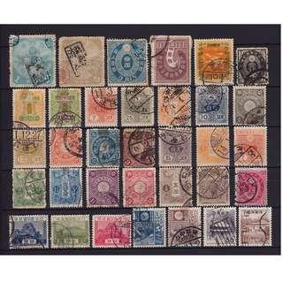 日本早期菊切手舊票一頁