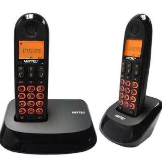 Amytel DECT 數碼無線子母電話 (雙機) [AT-008TB] (有保用)