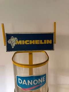 Vintage Michelin metal signage