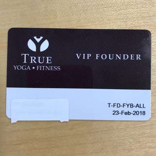 True fitness one month VIP membership