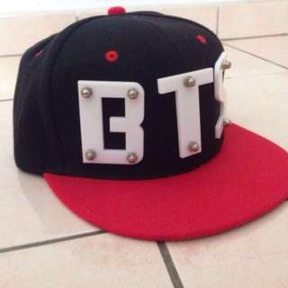 BTS Acrylic Wording Snap Back Hip Hop Cap