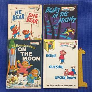 Lot of 4 The Berenstain Bears Books