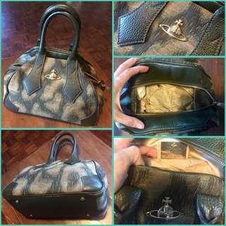 Vivienne Westwood Triangular Bowling Bag Olive Green Small