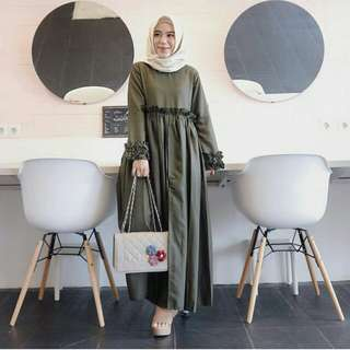 Faulina dress army