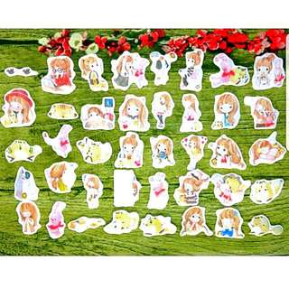 [Instock] Stickers Scrapebook/ Planner Stickers #51 (Girl)
