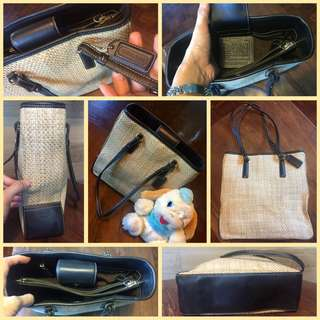 Coach Natural Woven Tote Beige