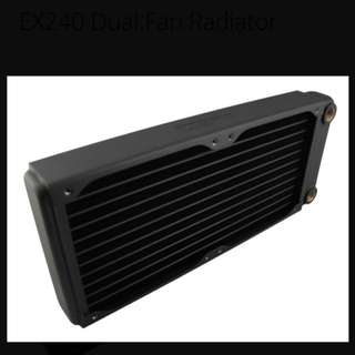 XSPC EX240 low profile liquid cooling radiator 120x240x35.5mm