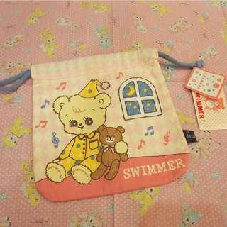 日本swimmer小熊本收納袋bag