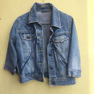 Cropped Jaket Jeans