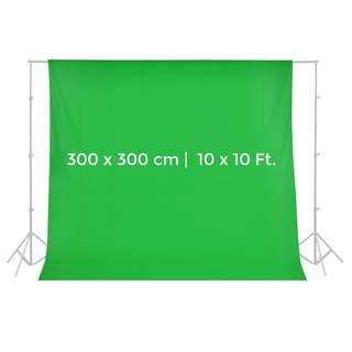 Pxel AAML3030G 300x300cm ChromaKey Muslin Background Backdrop Green