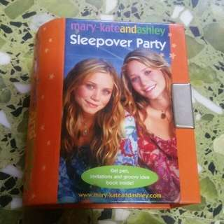Sleepover Party Book by Mary-Kate and Ashley