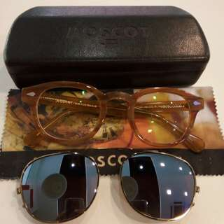 MOSCOT BLONDE + CLIP ON