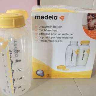 Medela breastmilk bottles 2x
