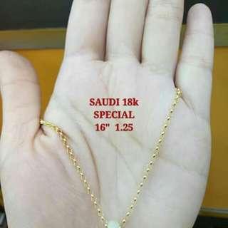 16k saudi gold chain with jade penda t
