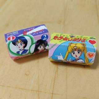 絕版1995年日本美少女戰士擦膠2個