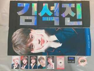 BTS JIN韓站APPLE TAPE SLOGAN全齊