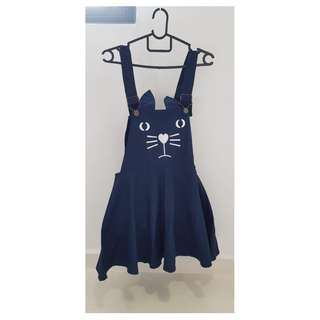 Cat strapped suspender dress