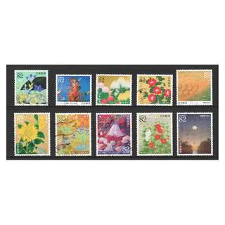 JAPAN 2017 GREETINGS JAPANESE PAINTINGS COMP. SET OF 10 STAMPS IN FINE USED CONDITION