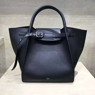 Celine the big bag 女士手袋 市場頂級 黑色小牛皮
