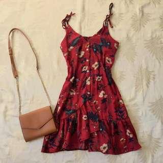 Blogger's Fave Floral Raffles Ribbon Tie Dress