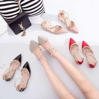 Ladies Korean Style Studded High Heels
