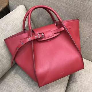 Celine 女士手袋 頂級 小牛皮紅色