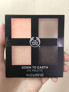 The Body Shop Down To Earth Palette 02 shades