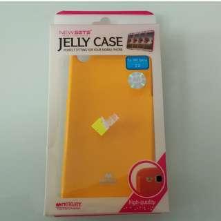 SONY Xperia Z2 黃色 軟殼 手機套