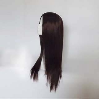Hair Wig 80cm in dark brown