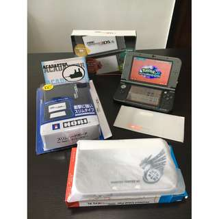 <modded + 64GB> Black *new* Nintendo 3DS XL + Accessories