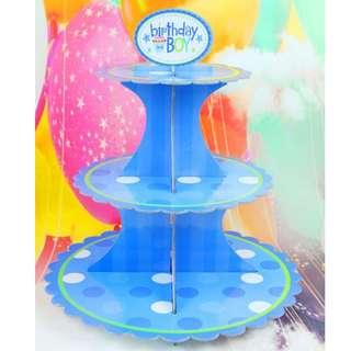 Happy Birthday Cupcake Stand