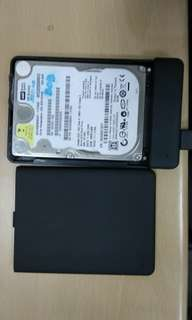 WD hard disk 320gb/enclosure not included