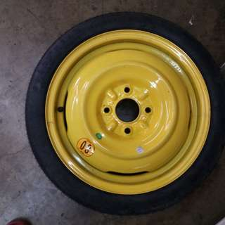 Spare tyre 114