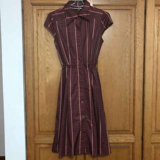 Vintage Retro Shirt Dress Size S