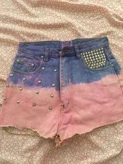 Ombre HW Shorts