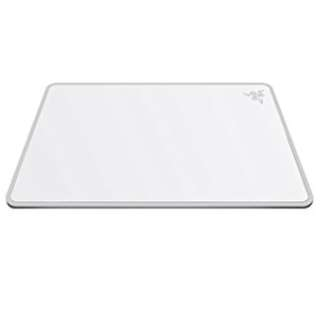 Razer Invicta Mercury Edition Mouse Mat White - Hard Aircraft-Grade Alumninum Base Gaming Mouse Mat - Dual Control & Speed Surfaces