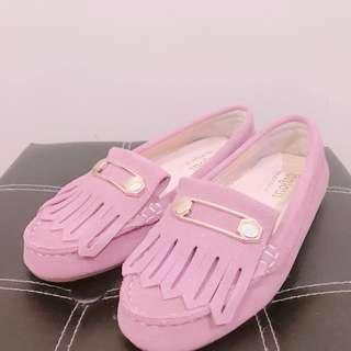 氣質流蘇娃娃鞋 #豆沙粉